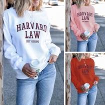 Modern Bedrukt Sweatshirt met Lange Mouwen en Ronde Hals