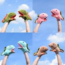Leuke Pluche Handschoenen in  Cartoondinosaurusvorm