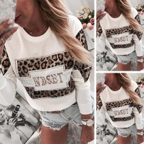 Modern Shirt met Ronde Hals en Luipaardpatroon