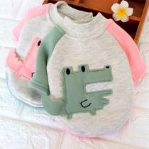 Modern Sweatshirt voor Huisdieren met Contrasterende Kleuren en Ronde Hals