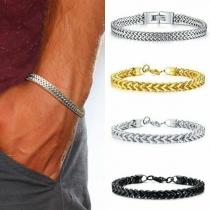 Eenvoudig Armband voor Heren van Roestvrij Staal
