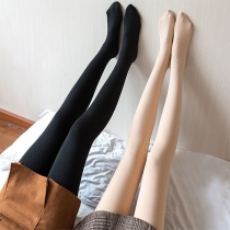 Moderne Rekbare Pantykousen met Hoge Taille en Pluchen Voering
