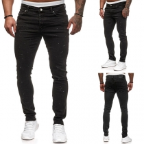Moderne Casual Jeans voor Heren met Middelhoge Taille