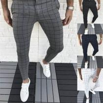 Moderne Broek voor Heren met Slanke Pasvorm en Middelhoge Taille
