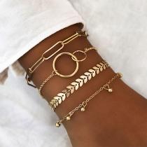Modern Gouden Armbandset van Aluminium 4 Stuks/Set