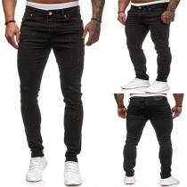 Moderne Jeans voor Heren met Middelhoge Taille