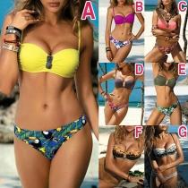 Sexy Bikiniset met Chic Patroon en Lage Taille