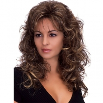 Moderne Pruik met Krullend Haar