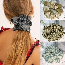 Modieus Bedrukt Elastische Haarband