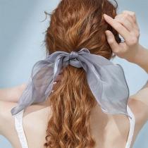 Simpele Haarband met Strikje en Effen Kleur