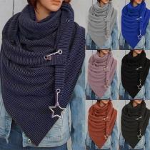 Moderne Sjaal met Effen Kleur en Onregelmatige Zoom