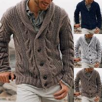 Modern Vest voor Heren in Effen Kleur met Lange Mouwen
