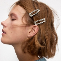 Moderne Haarspelden met Ingelegd strass 3 Stuks / Set