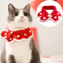 Leuke Gebreide Halsband voor Huisdieren in Contrasterende Kleuren