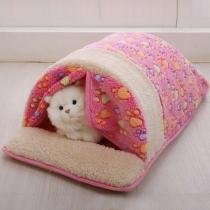 Moderne Slaapzak voor Huisdieren van Pluche met Contrasterende Kleuren en Chic Patroon