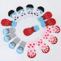 Leuke Sokken voor Huisdieren in Contrasterende Kleuren met Cartoonmotief 2 Paar / Set