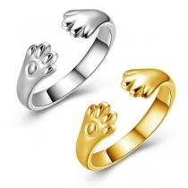 Creatieve Open Ring met Kattenpootjes