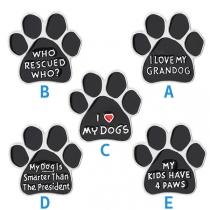 Schattige Broche met Cartoon-Hondenpoot