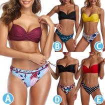 Sexy Push-Up Bikiniset met Lage Taille