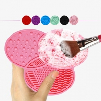 Draagbaar Siliconen Reinigingspad voor Make-Up en Cosmeticaborstels
