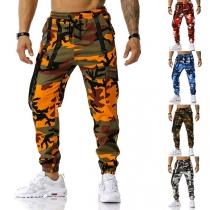 Sportbroek voor Heren met Camouflagepatroon en Elastische Taille met Trekkoord