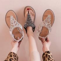 Sandalen in Boheemse Stijl met Platte Zolen