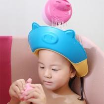 Leuke Multifunctionele Siliconen Shampookap voor Kinderen in de Vorm van een Cartoonvarken