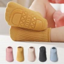 Moderne Antislip Sokken in Effen Kleur voor Baby's en Peuters 2 Paar / Set