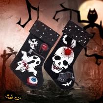 Decoratieve Sokken in Retrostijl met Doodshoofdmotief voor Halloween