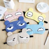 Leuke Ademende Slaap-Oogmaskers met Cartoonmotief 2 Stuks / Set