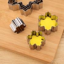 Creatieve Koekjes Uitsteker-Set van Roestvrij Staal in Sneeuwvlokvorm 9 Stuks/Set