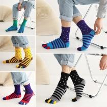 Modieuze Sokken in Contrasterende Kleuren met Apart Teengedeelte 2 Paar / Set