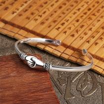 Creatieve Zilverkleurige Armband in Handdrukvorm