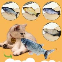 Kattenspeelgoed Beweegbare Vis met USB-Aansluiting