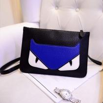 Cute Cartoon Pattern Contrast Color Shoulder Messenger Bag