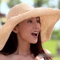 Mode Vouwbaar Brede Rand Stro Hoed Zonbescherming Zonne Hoed