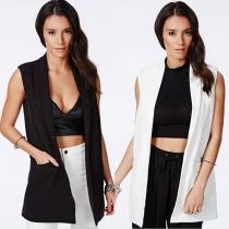 Mode Eenkleurig Slank Fit Vest