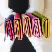 Mode Contrasterend Kleur Uitgesneden Lang Beurs
