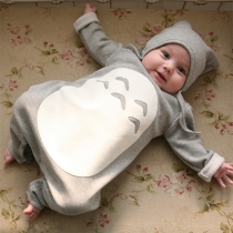 Leuke Lange Mouwen Ronde Nek Baby Jumpsuits