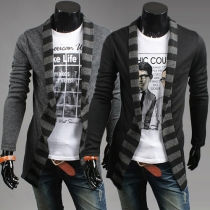 Modern Casual Gestreept Gemixt Lange Mouwen Gebreid Heren Vest