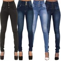 Modern Sexy Hoge Taille Stretch Slanke Pasvorm Jeans