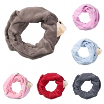 Moderne Sjaal met Effen Kleur en Ritssluiting
