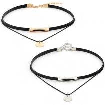Modern Dubbel Halsband met Ronde Hanger