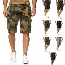 Moderne Knielange Shorts voor Heren met Zijzakken