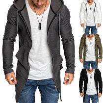 Moderne Hoodie voor Heren met Lange Mouwen en Capuchon