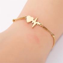 Creatief Armband met Hanger in de vorm van Elektrocardiogram