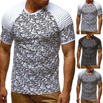 Modern T-shirt voor Heren met Korte Mouwen en Ronde Hals