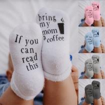 Modern Bedrukte Sokken voor Baby 1-2 Jaar Oud -2 Paar/Set