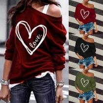 Modern Sweatshirt met Lange Mouwen en Ronde Hals