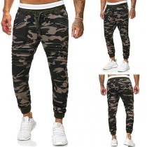 Moderne Casual Broek voor Heren met Camouflagepatroon